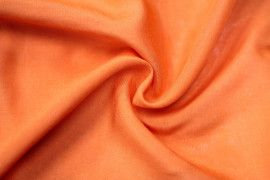Tissu Viscose Unie Orange -Au Mètre
