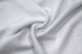 Tissu Viscose Unie Blanc -Coupon de 3 metres