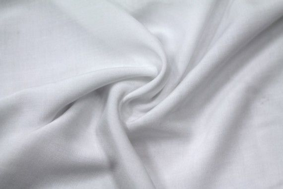 Tissu Viscose Unie Blanc -Coupon de 3 mètres