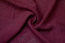 Tissu Viscose Unie Bordeaux -Coupon de 3 metres