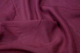 Tissu Viscose Unie Bordeaux -Coupon de 3 mètres