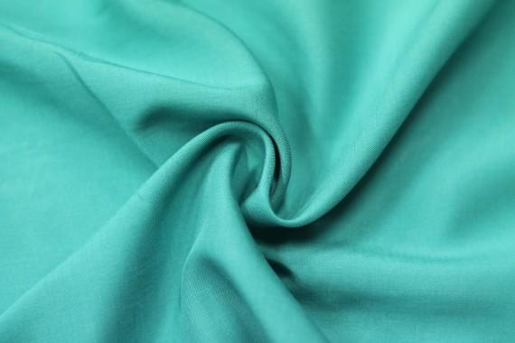 Tissu Viscose Unie Bleu tiffany -Coupon de 3 mètres