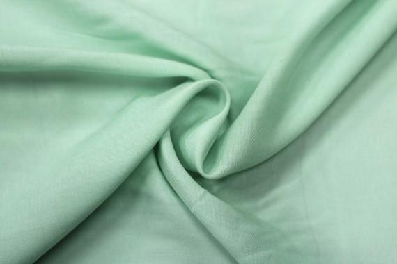 Tissu Viscose Unie Vert d'eau -Coupon de 3 mètres