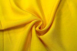 Tissu Viscose Unie Jaune -Coupon de 3 metres