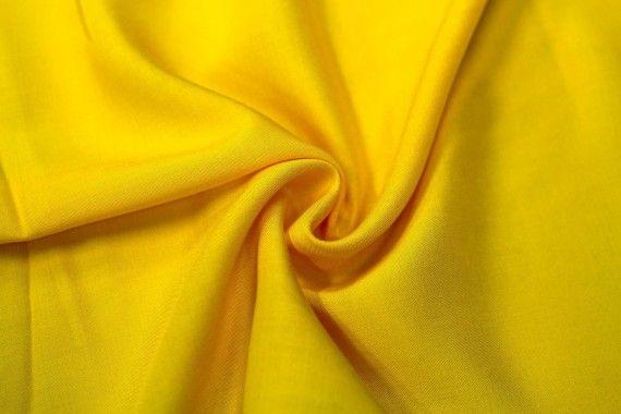 Tissu Viscose Unie Jaune -Coupon de 3 mètres
