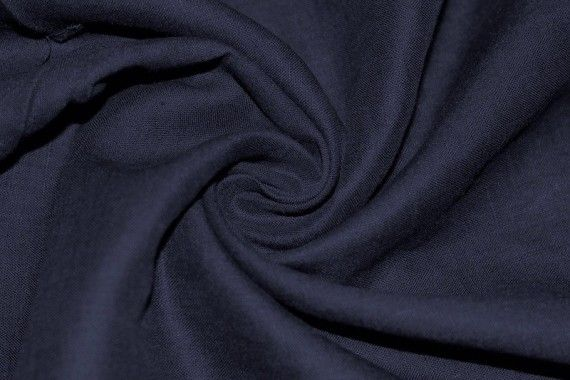 Tissu Lin Uni Marine 100% -Au Mètre