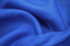 Tissu Lin Uni Bleu Roi 100% -Au Mètre