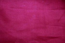 Tissu Lin Uni Fuschia100% -Au Mètre