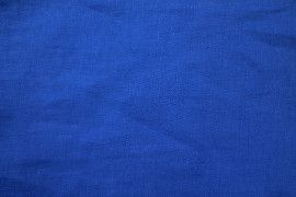Tissu Lin Uni Bleu Roi 100% Coupon de 3 mètres