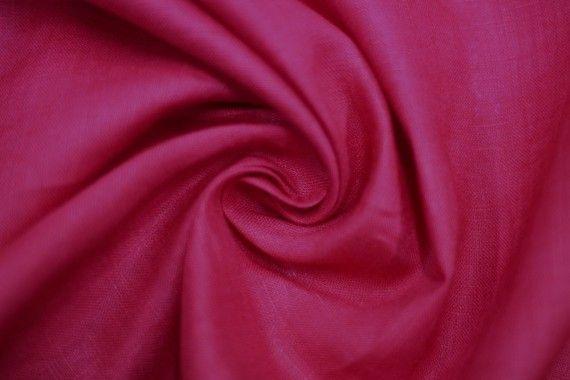 Tissu Lin Uni Fuchsia 100% Coupon de 3 mètres