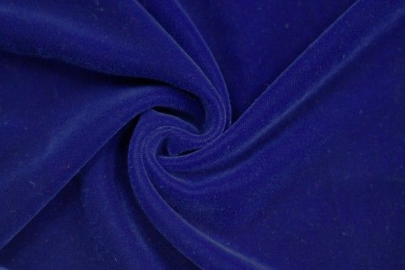 Tissu Velours Velvet Uni Bleu roi -Au Mètre