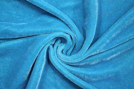 Tissu Velours Velvet Uni Turquoise clair -Au Mètre