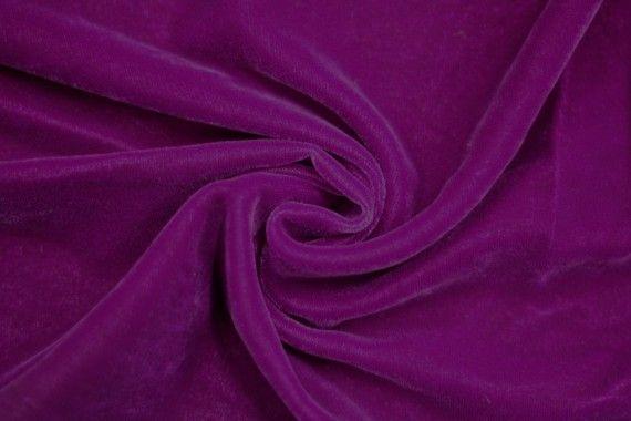 Tissu Velours Velvet Uni Violet clair -Au Mètre