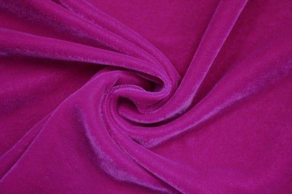 Tissu Velours Velvet Uni Fuchsia -Au Mètre