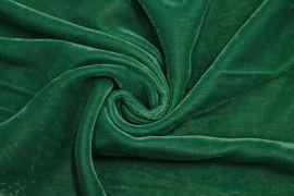 Tissu Velours Velvet Uni Vert -Au Mètre