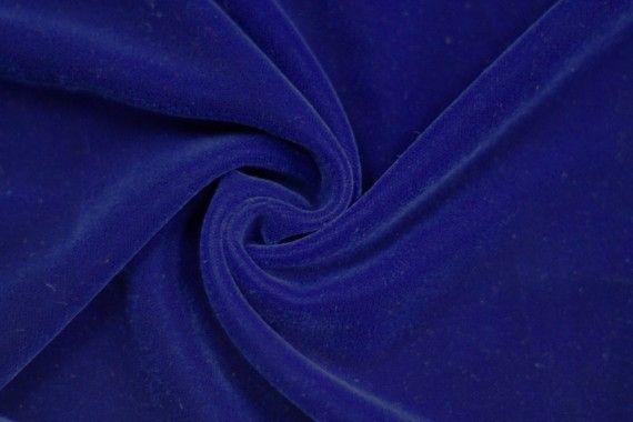 Tissu Velours Velvet Uni Bleu roi -Coupon de 3 mètres