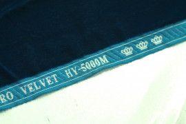 Tissu Velours Velvet Uni Bleu pétrole -Coupon de 3 mètres