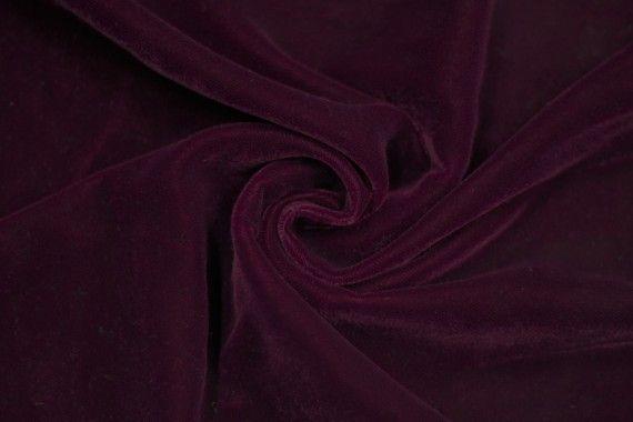 Tissu Velours Velvet Uni Bordeaux -Coupon de 3 mètres