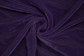 Tissu Velours Velvet Uni Violet foncé -Coupon de 3 mètres