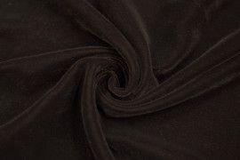 Tissu Velours Velvet Uni Marron -Coupon de 3 mètres