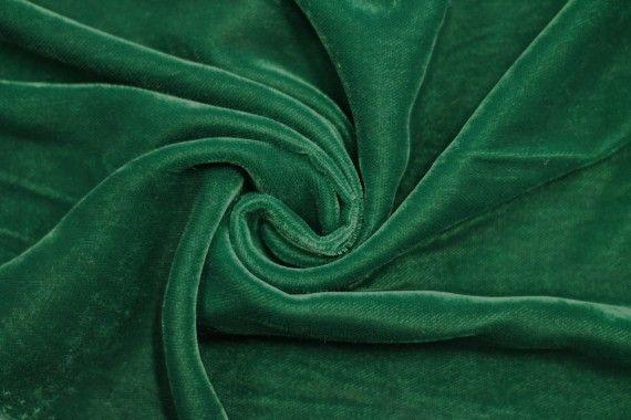 Tissu Velours Velvet Uni Vert -Coupon de 3 mètres