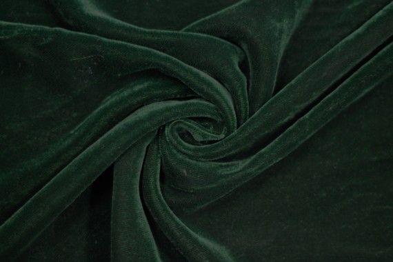 Tissu Velours Velvet Uni Vert foncé -Coupon de 3 mètres