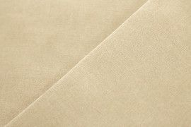 Tissu Bengaline Polyester Beige Coupon de 3 mètres