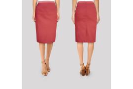 Tissu Bengaline Rouge -Coupon de 3 mètres