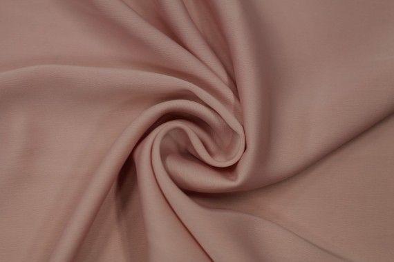 Tissu Satin Touché Soie Rose Poudré -Au Mètre