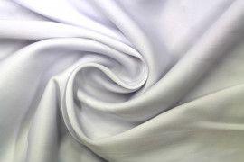 Tissu Satin Touché Soie Blanc -Au Mètre