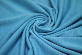 Tissu Jersey Polyviscose Turquoise -Au Metre