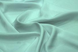Tissu Satin Touché Soie Vert Menthe -Au Mètre