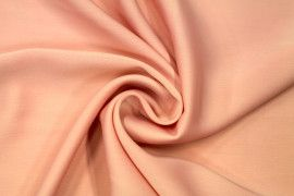 Tissu Satin Touche Soie Saumon -Coupon de 3m