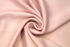 Tissu Satin Touche Soie Rose Clair -Coupon de 3m