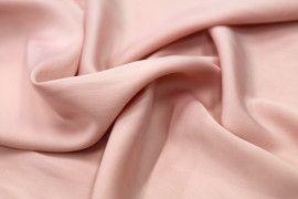 Tissu Satin Touché Soie Rose Clair -Coupon de 3m