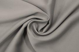 Tissu Satin Touche Soie Gris -Coupon de 3m