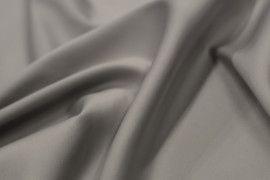Tissu Satin Touché Soie Gris -Coupon de 3m