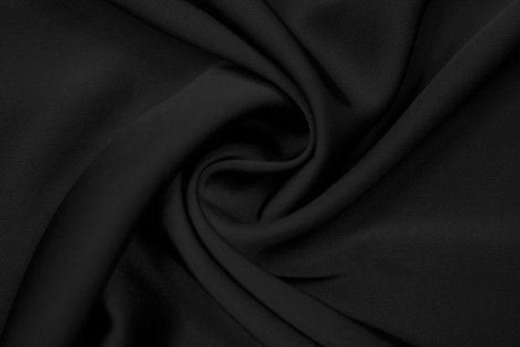 Tissu Satin Touché Soie Noir -Coupon de 3m