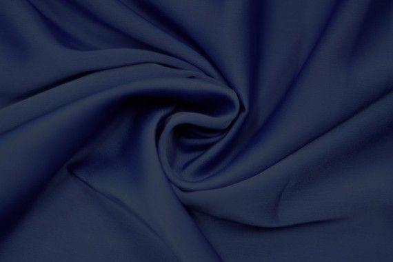 Tissu Satin Touché Soie Bleu Roi -Coupon de 3m