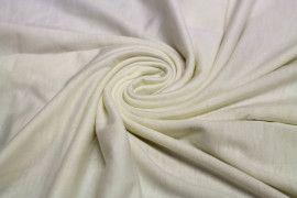 Tissu Jersey Polyviscose Ecru -Au Metre