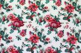 Tissu Crêpe Polyester Printanier Rouge -Au Mètre