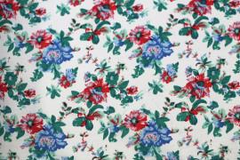 Tissu Crêpe Polyester Printanier Bleu -Au Mètre