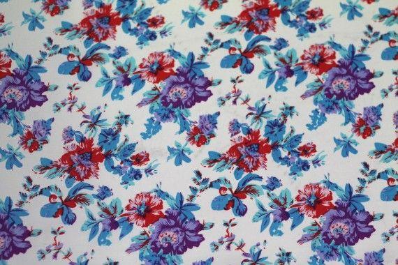 Tissu Crêpe Polyester Printanier Violet  -Au Mètre