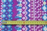 Tissu Crêpe Polyester  Géométrique Violet  -Au Mètre