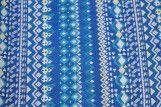 Tissu Crêpe Polyester  Géométrique Bleu  -Au Mètre
