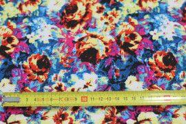 Tissu Crêpe Polyester    Peinture Jaune -Au Mètre