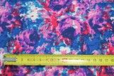 Tissu Crêpe Polyester    Peinture  Violet  -Au Mètre
