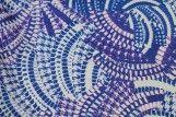 Tissu Crêpe Polyester    Serpent Bleu   -Au Mètre