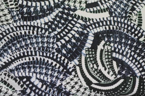 Tissu Crêpe Polyester    Serpent Marine   -Au Mètre