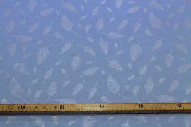 Tissu Voile de Viscose Bleu Plume Argent -Coupon de 3m